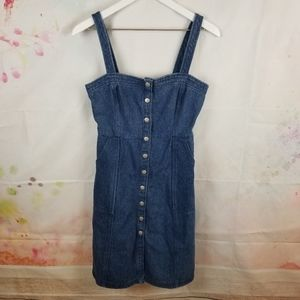 Honey Punch | Button Up Jean Dress Size Small